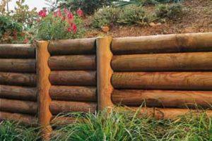 Rondins de bois pour le jardin