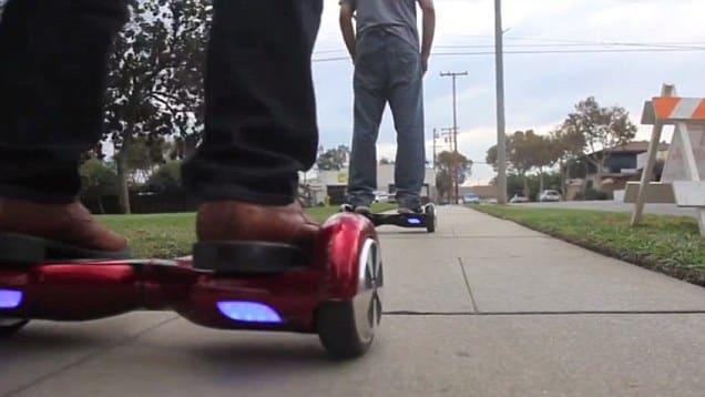 hoverboard en ville