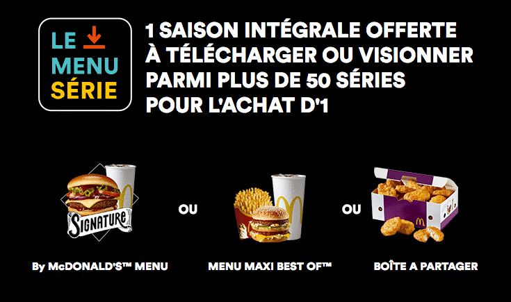 mcdonalds.fr/le-menu-serie : welcome rakuten tv mcdonalds