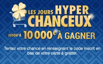 Les Jours Hyper Chanceux Carrefour - jeu carrefour.fr