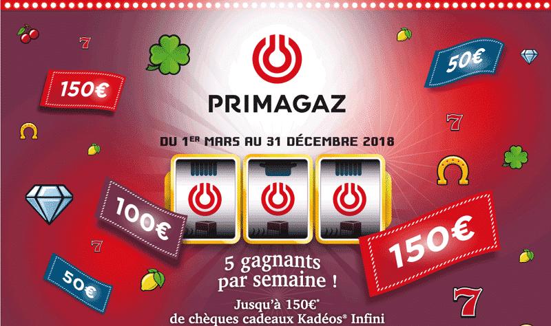 Jeu bandit manchot Primagaz 2018 chance.primagaz.fr