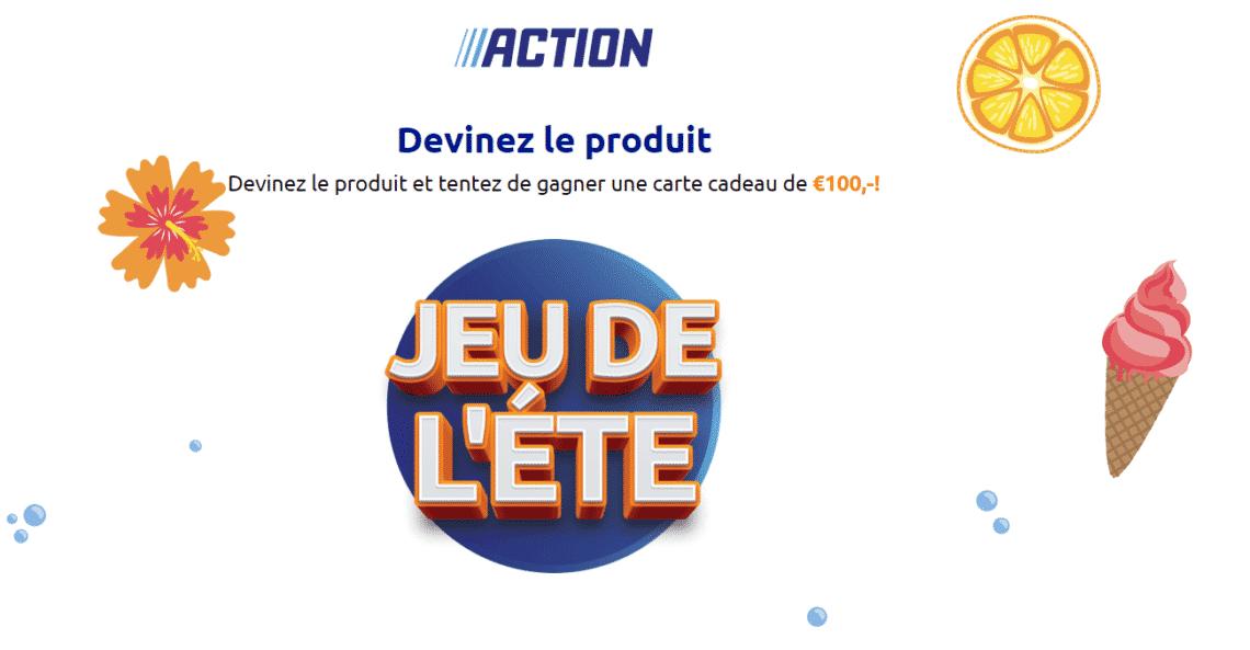 """action.com jeudelete - jeu action étée 100 euros avec le jeu """"Action jeu de l'été"""""""