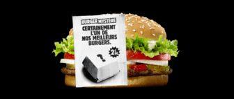 "opération ""burger mystère"" - burger king"
