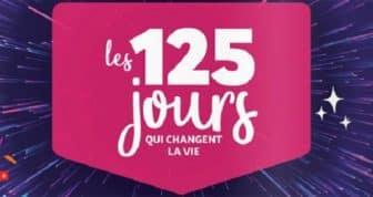 """jeu """"les 125 jours qui changent la vie"""" - Auchan"""