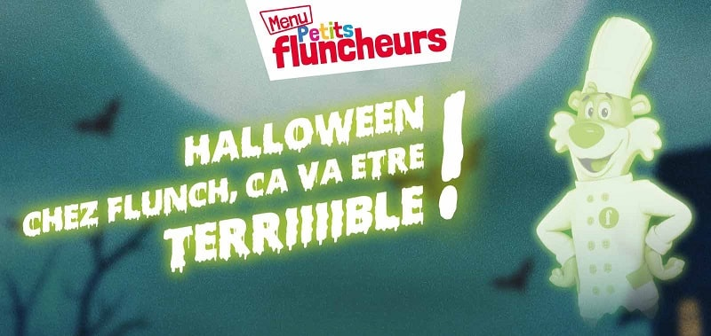 Halloween - menu enfant offert chez Flunch 2018