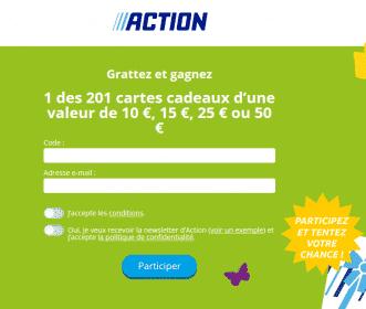 www.action.fr/grattez : jeu Action Grattez et Gagnez 2019
