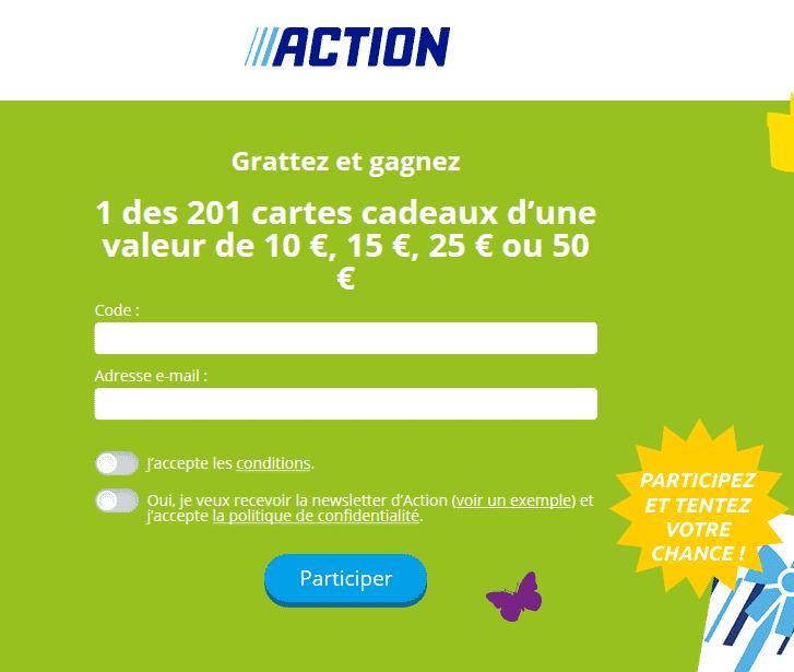 www.action.fr : jeu Action Grattez et Gagnez 2019