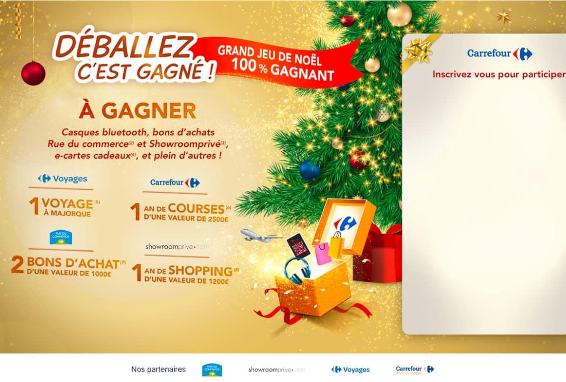 grand jeu de Noel Carrefour Deballez c'est gagne - carrefour-jeudenoel.fr