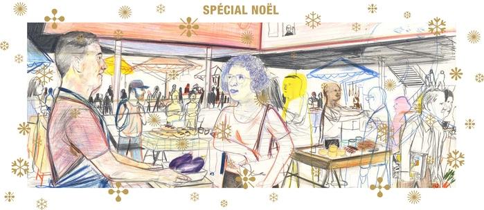 affiche du marché bio métropolitain spécial Noël