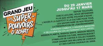jeu leclerc super Pouvoir d'Achat - www.superpouvoirs.leclerc