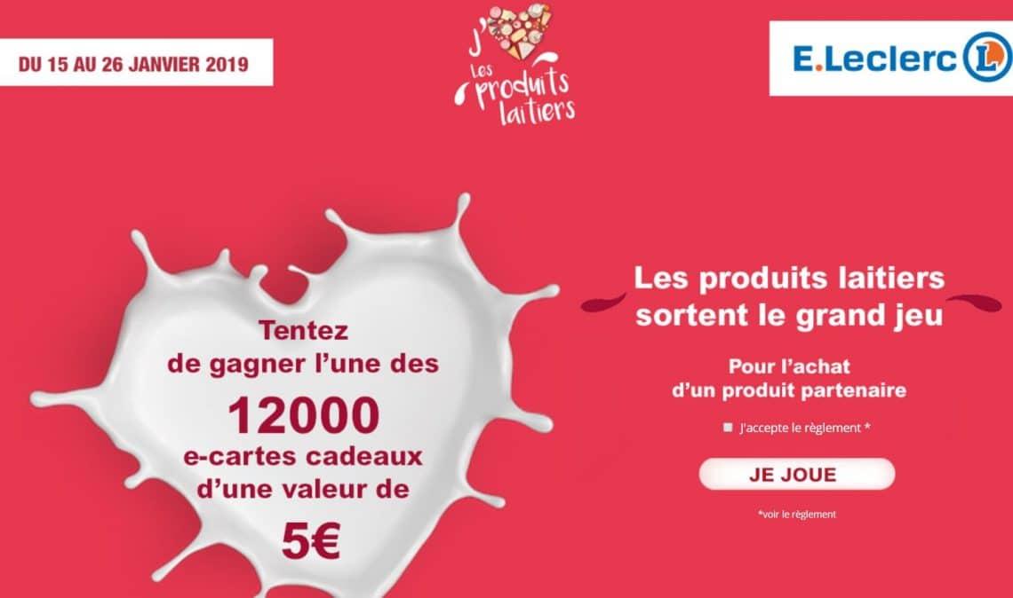 Jeu Leclerc produits laitiers - www.produitslaitiers.jeu.leclerc
