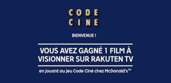 codeMcDonald's Code Cine - Rakuten TV