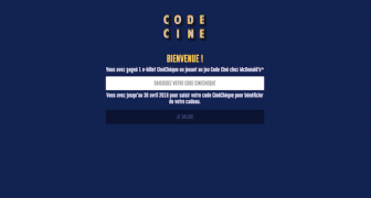 e-billet CineCheque - jeu code cine mcdonald's