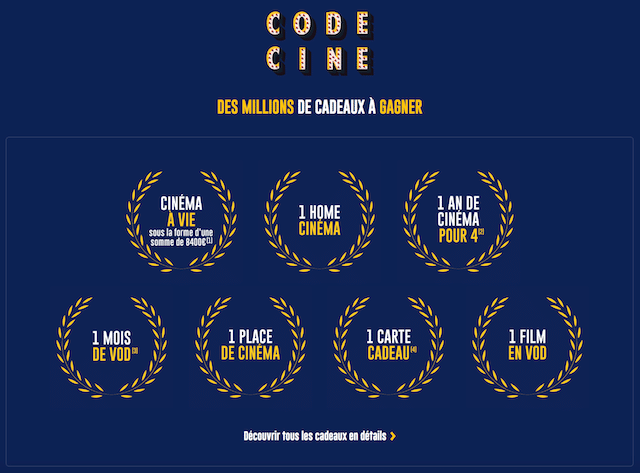 McDonalds fr Code Ciné : jeu sur mcdonalds.fr