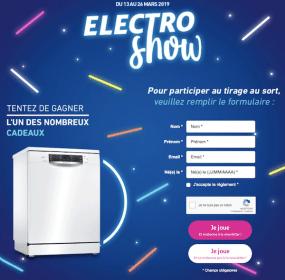 jeu Auchan Electro Show - jeu.auchan.fr