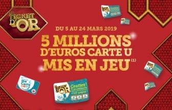 jeu Le Ticket d'Or Magasins U - magasins-u.com