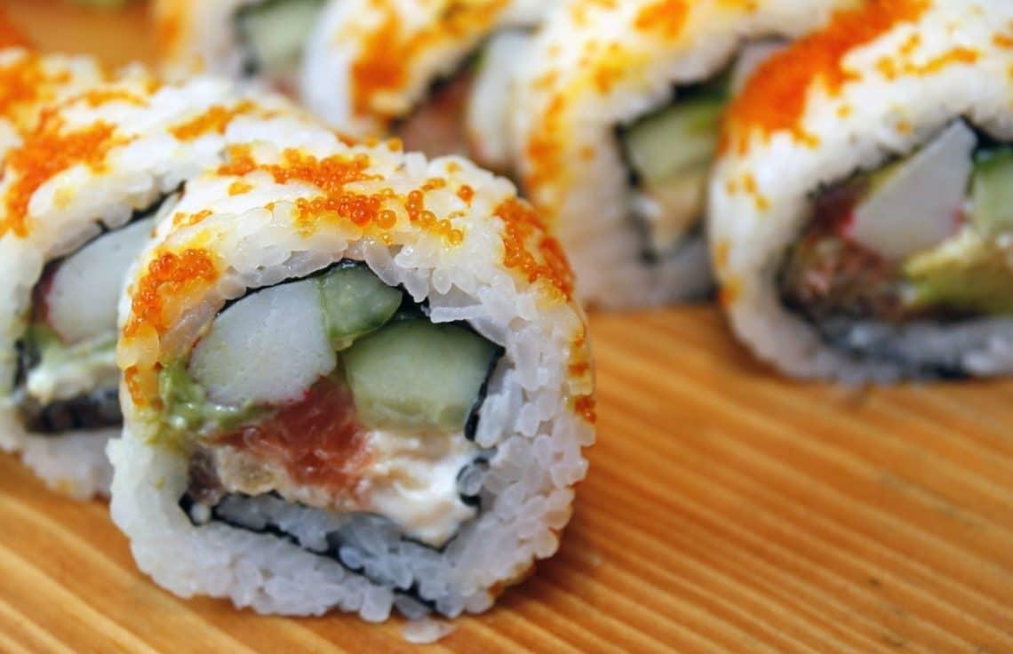 préparation rafsinée de sushis
