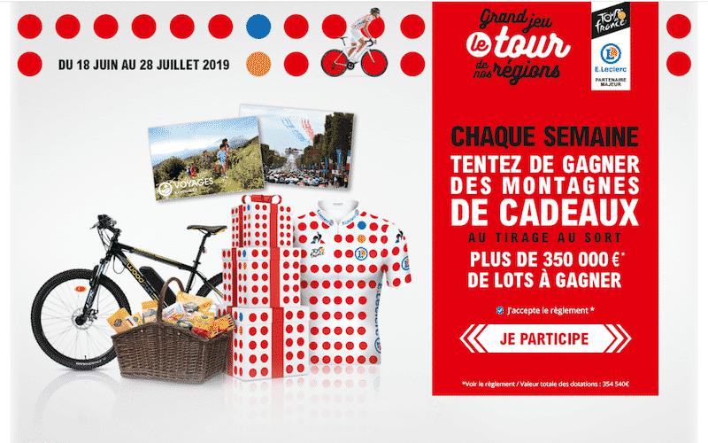 Participez au jeu Le tour de Nos Regions www.tourdesregions.leclerc