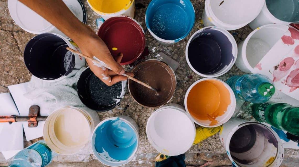 pots de peinture écologiques