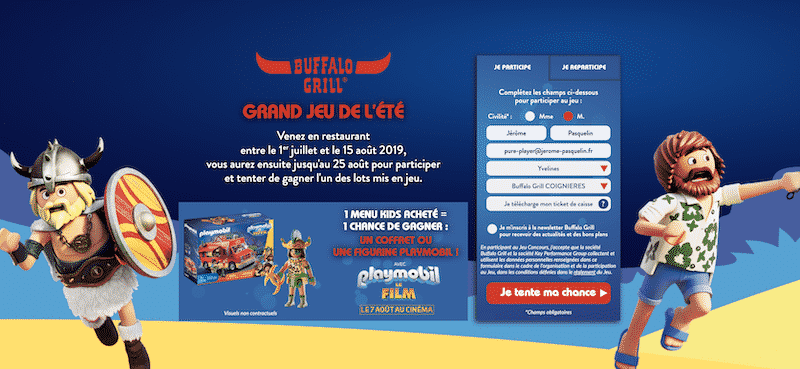 Participez au Grand Jeu Buffalo Grill avec Playmobil le Film