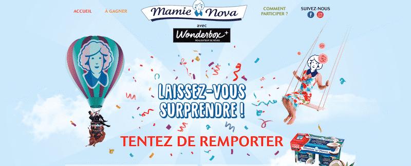Participez au jeu Mamie Nova Wonderbox
