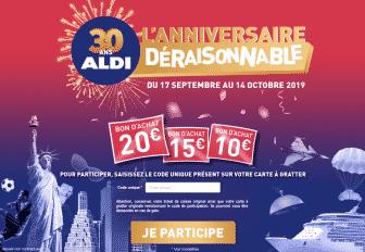 Participez au jeuanniversaire ALDI sur www.anniversairealdi.fr