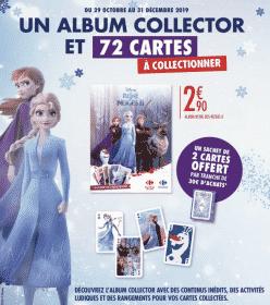 Recevez vos cartes et album La Reine des Neiges