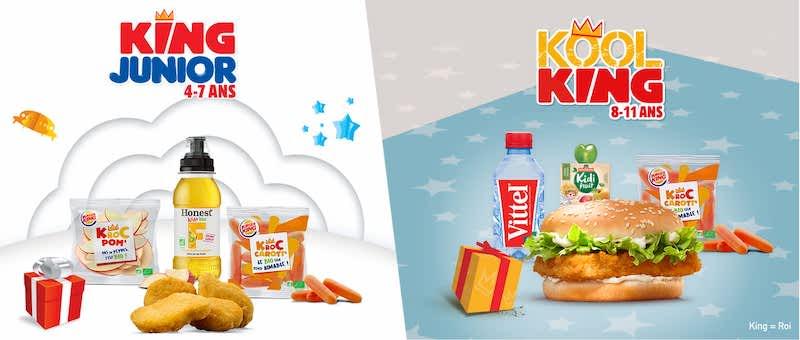 Retrouvez le jouet avec le menu enfant burger king