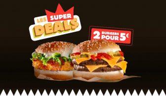 profitez de l'operation Les Super Deals sur burgerking.fr