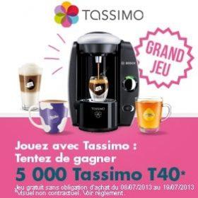 5000 Tassimo T40 a gagner