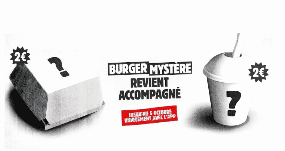 opération Burger King : Burger Mystère et Glace Mystère