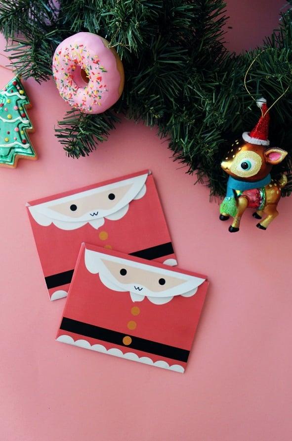 Des enveloppes recyclées pour Noel