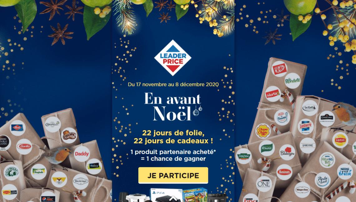 """Grand jeu Leader Price """"En Avant Noel"""" sur www.EnAvantNoel.fr/leaderprice"""