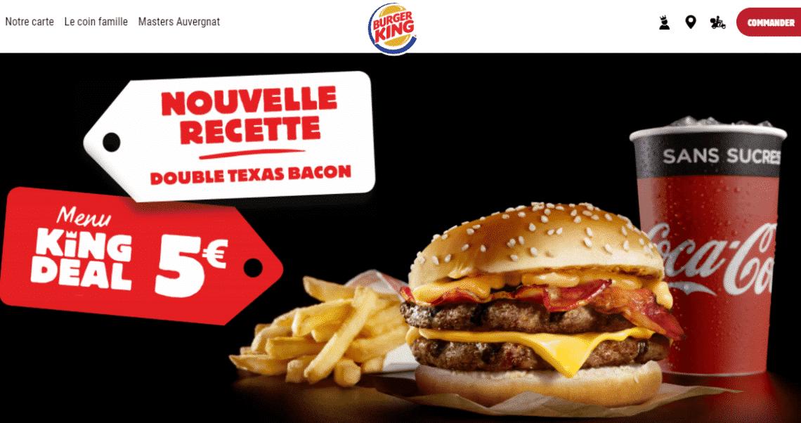 Menu King Deal Burger King